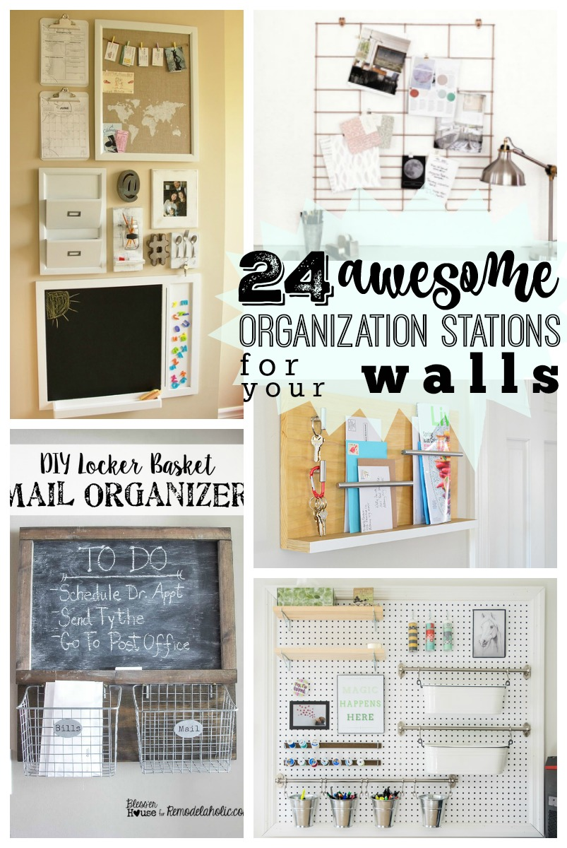 Get Organized This School Year With These Creative DIY Wall Organization  Stations! 24 Ideas To
