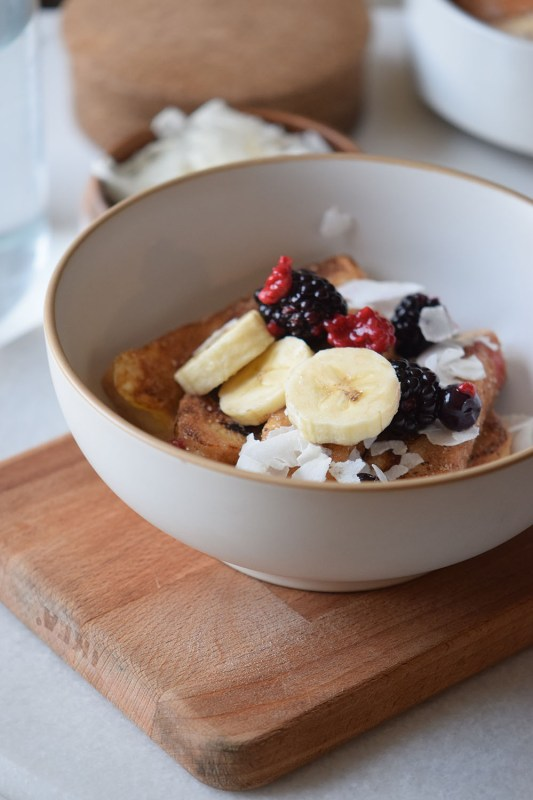 Make this delicious French Toast Bowl for breakfast