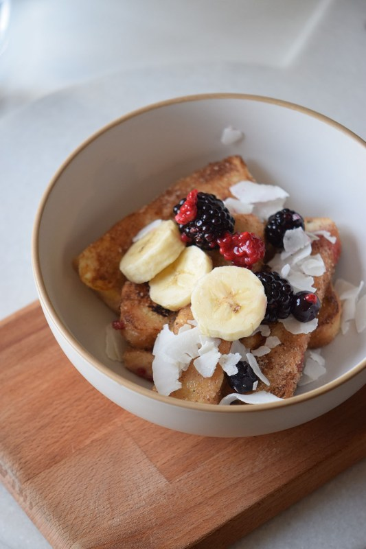 French Toast Bowl with Cinnamon Sugar is a perfect breakfast or brunch food