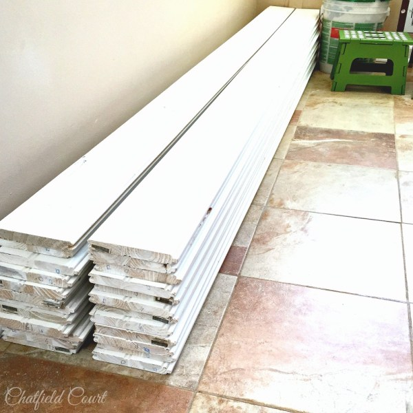 Plank ceiling DIY, kitchen remodel, by Chatfield Court featured on @Remodelaholic