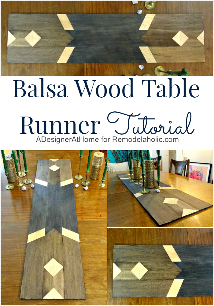 Balsa Wood Table Runner Tutorial | Turn some craft wood into a fun bohemian-style accent for your home - no power tools required!
