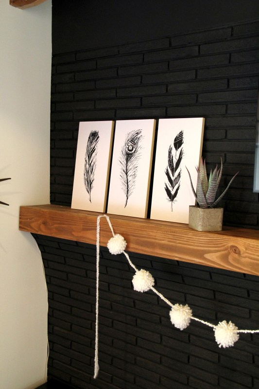 4 hand-drawn feather prints that are FREE to print! From Remodelaholic.com