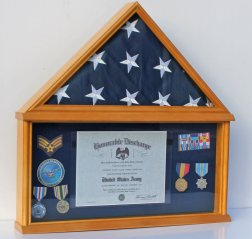 flag and medal shadow box