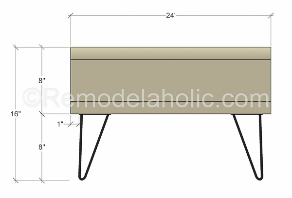 mid century modern coffee table by @remodelaholic-3