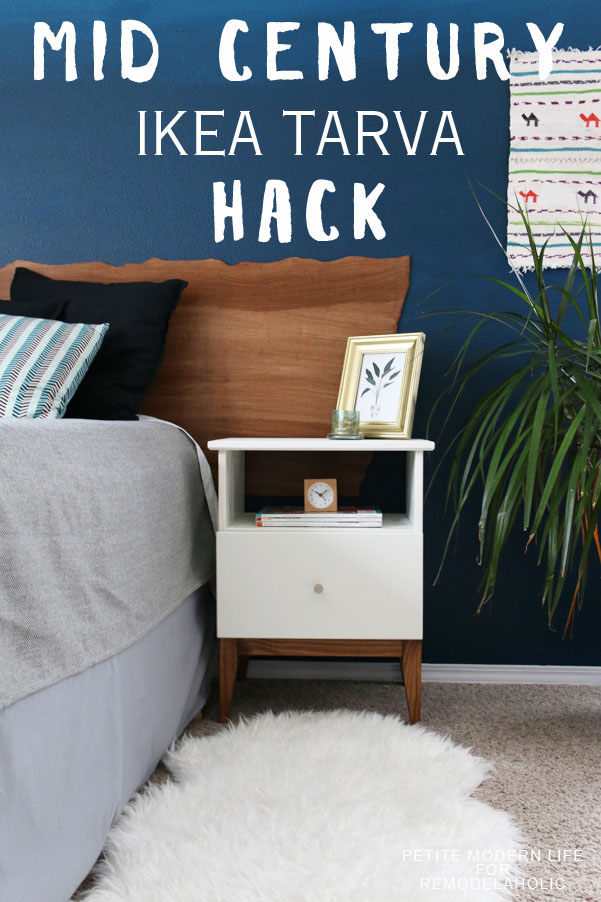 Give that flat-pack basic IKEA side table a classic mid century style in just a few extra minutes with this easy Tarva nightstand hack!