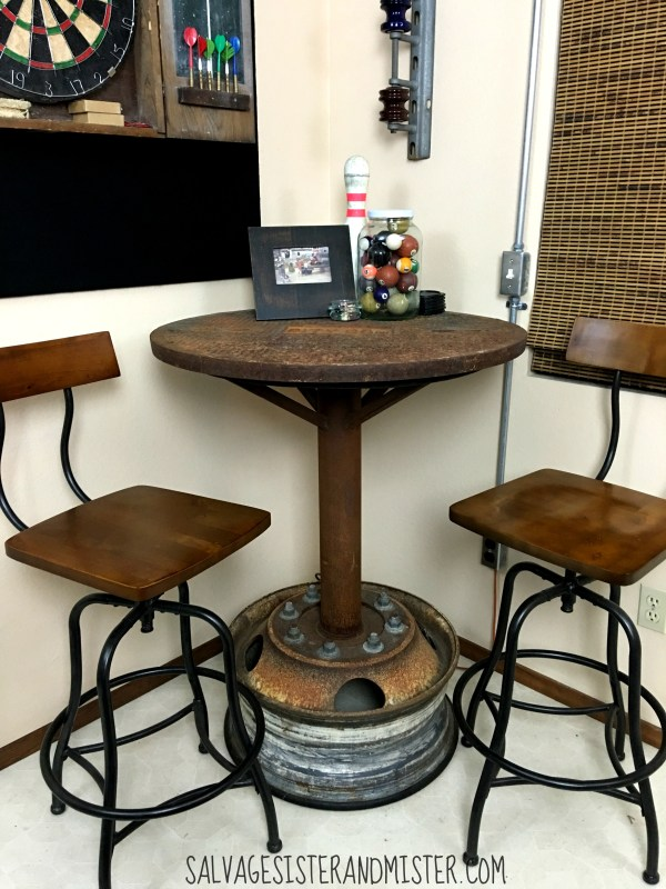 Remodelaholic Salvaged Diy Industrial Bar Table