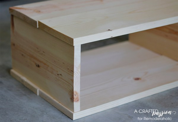 Boxy side table DIY by A Crafted Passion featured on @Remodelaholic