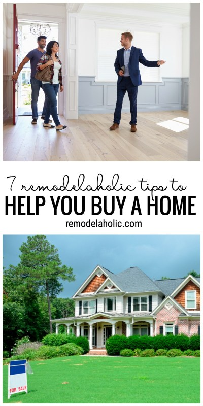 Buying a home? Be sure to think about these things first! | 7 Remodelaholic tips to help you buy a home from remodelaholic.com