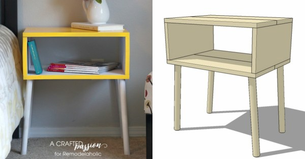 Build a DIY modern side table for just $15 with this easy tutorial and building plan @Remodelaholic fb