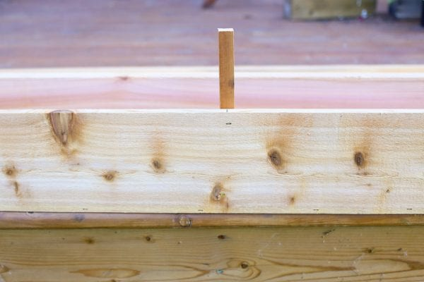 step 4, add supports for wooden window box planter