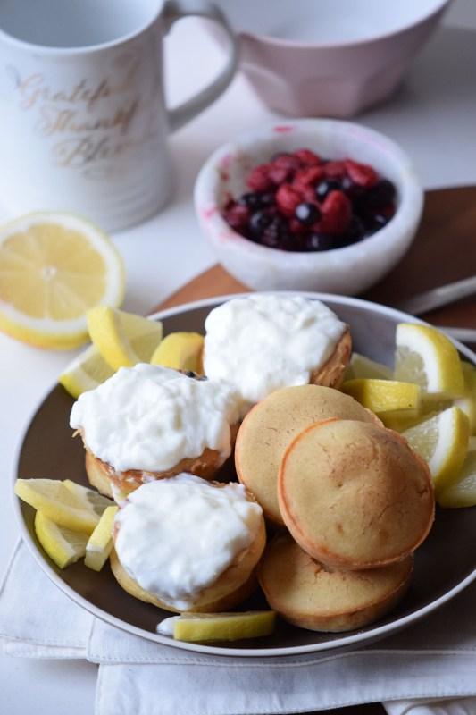 Yogurt Pancake Poppers
