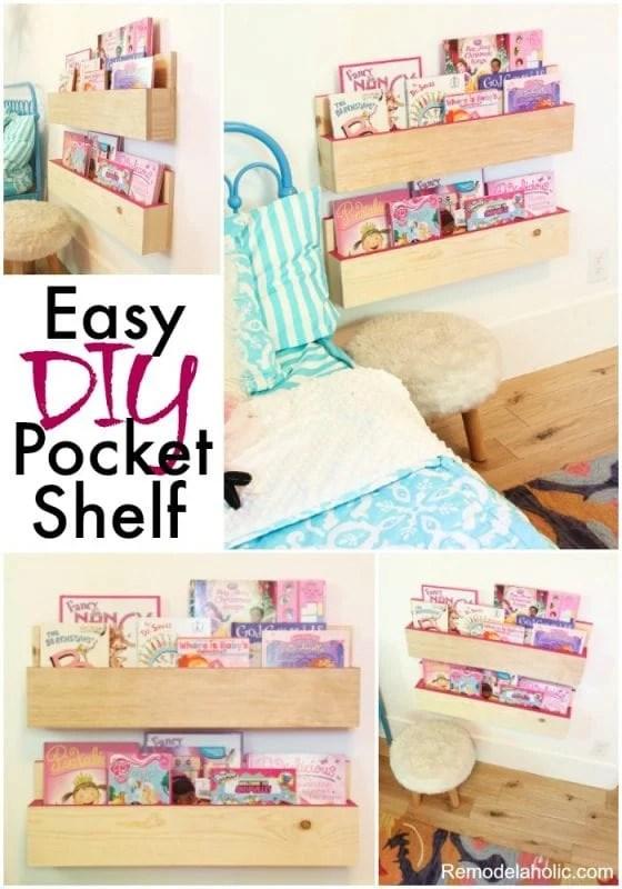 Easy DIY pocket Shelf Tutorial