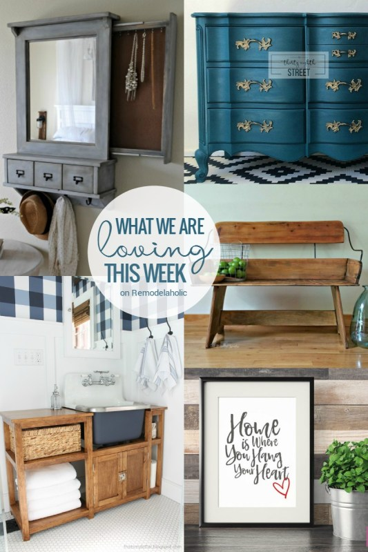 Friday Favorites - hidden jewelry storage, bathroom renovation and vanity, and more @Remodelaholic
