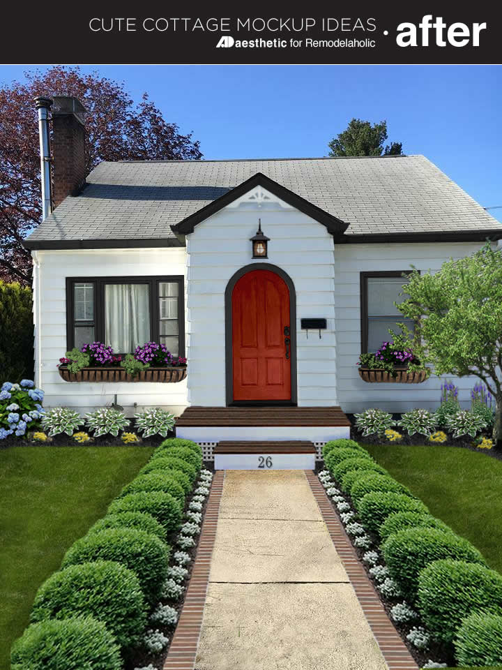 A dated home gets a fresh look in this (virtual) cute cottage makeover! Add curb appeal with these easy ideas, no matter what the style of your home.