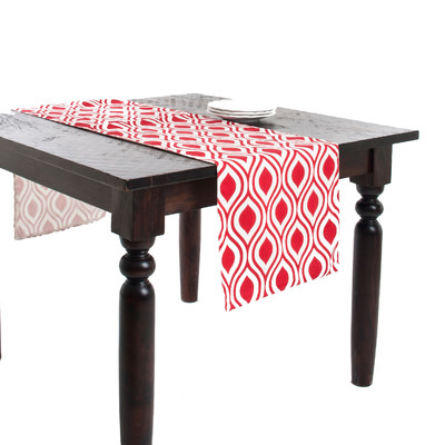 Saro-Teardrop-Design-Printed-Table-Runner-969
