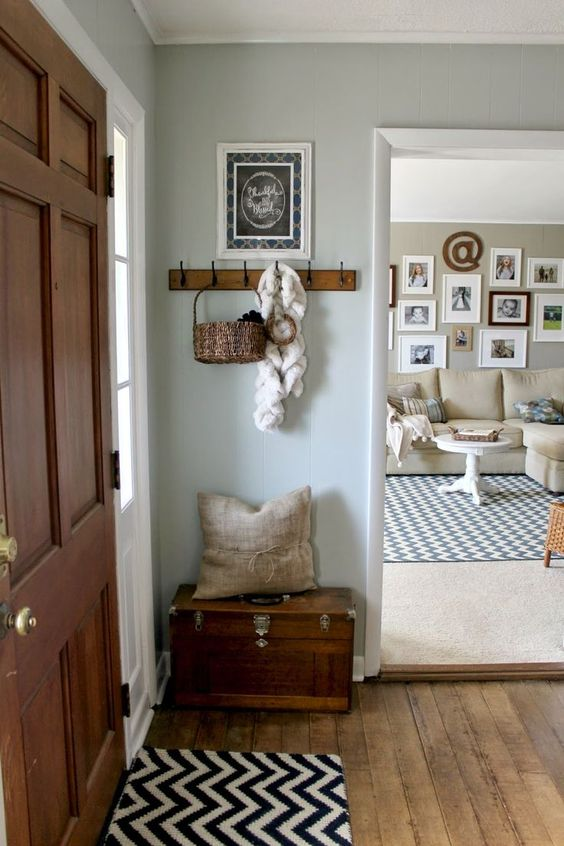 Wall color is Silver Strand from Sherwin Williams. Color Spotlight on Remodelaholic