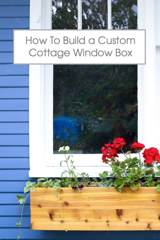 Learn to build a custom cedar cottage window box for just $25 each! Add year-round curb appeal with this easy DIY tutorial.