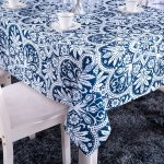 tablecloth navy pattern