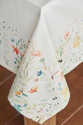 tablecloth watercolor floral