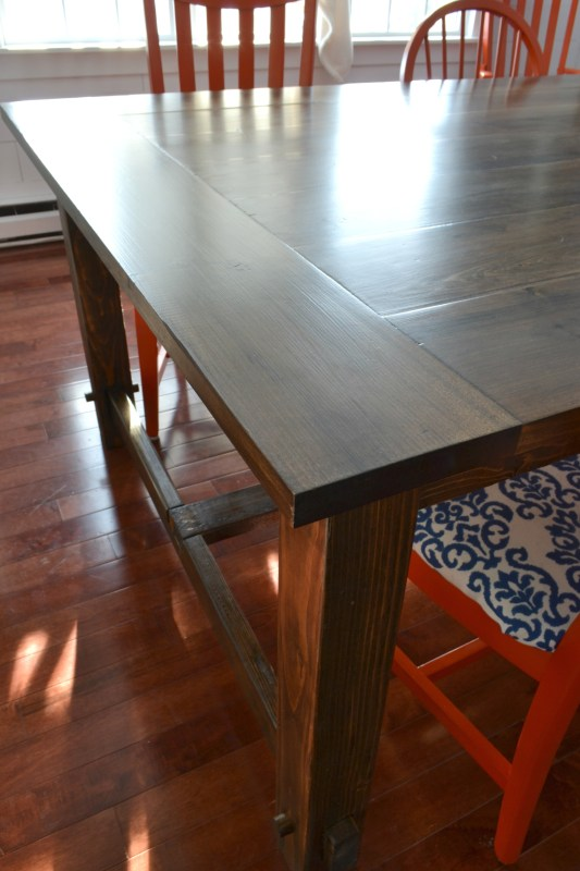 Beautiful, large DIY farmhouse table by I am a Homemaker featured on @Remodelaholic
