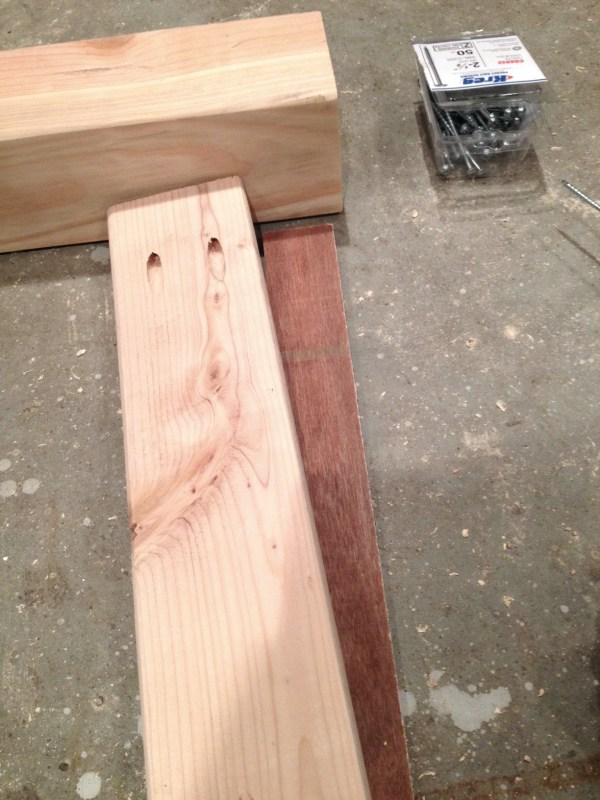 Pocket holes used to build large farmhouse table by I am a Homemaker featured on @Remodelaholic