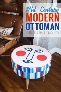 DIY modern ottoman by Tried and True via @Remodelaholic