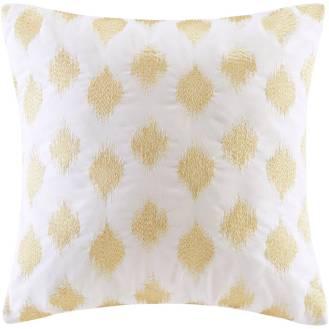 Gold Metallic Square Pillow