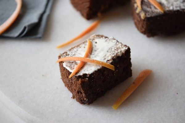 Orange Chocolate Cake Squares