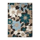 Large Floral Blue Area Rug// buy it here