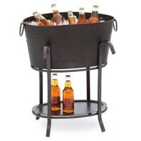 bucket cooler table for patio parties