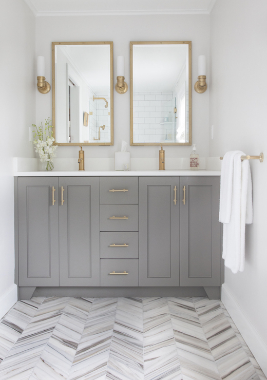Gray and Brass Bathroom for Postbox Designs