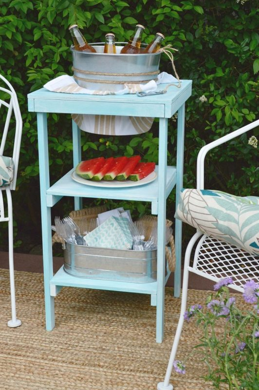 how to build an ice bucket beverage station for serving at a party, Fox Hollow Cottage