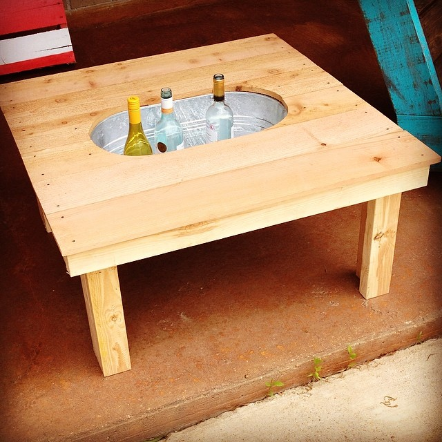 diy cooler tables for the patio