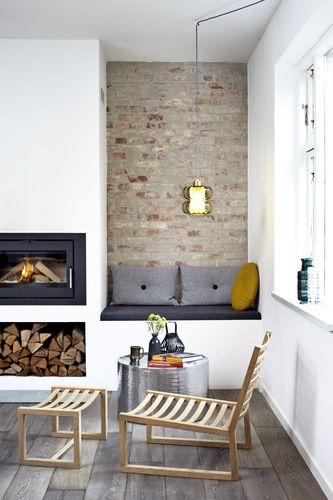 Awkward Alcove Solution: Add floating shelves | More ideas at Remodelaholic.com | Image Source: thedesignchaser.com