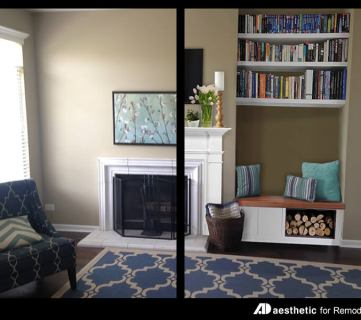 Real Life Rooms: An Awkward Alcove Becomes a Storage Bench
