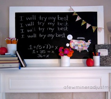 17 Creative Back to School Mantels