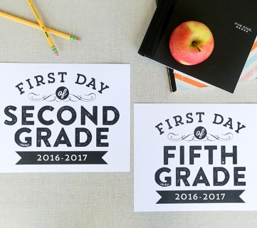 Printable First Day of School Signs (Updated for 2017-2018)