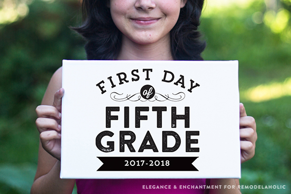 First Day Of School Signs Horizontal