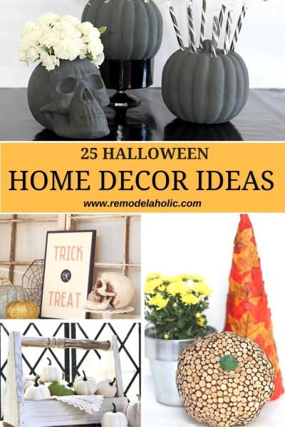 Halloween home decor ideas pin 1