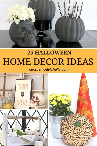 Halloween home decor ideas pin 1