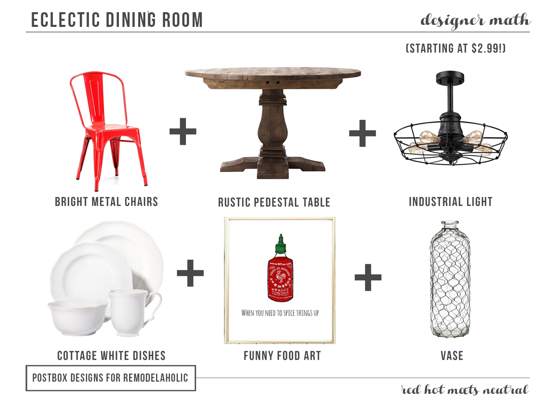 Eclectic Dining Room by Postbox Designs for Remodelaholic.com