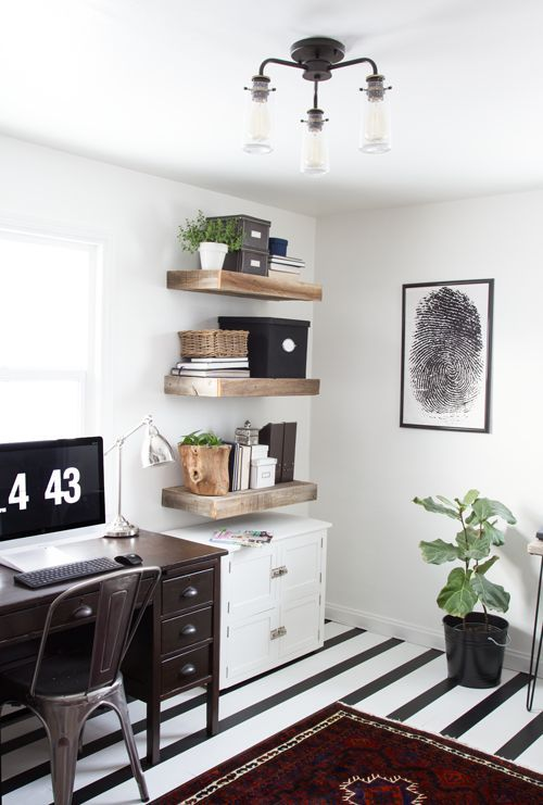 Rustic Modern Office Inspiration + Tips on @Remodelaholic | Image Source: notjustahousewife.net Photo Credit: Stacy Risenmay