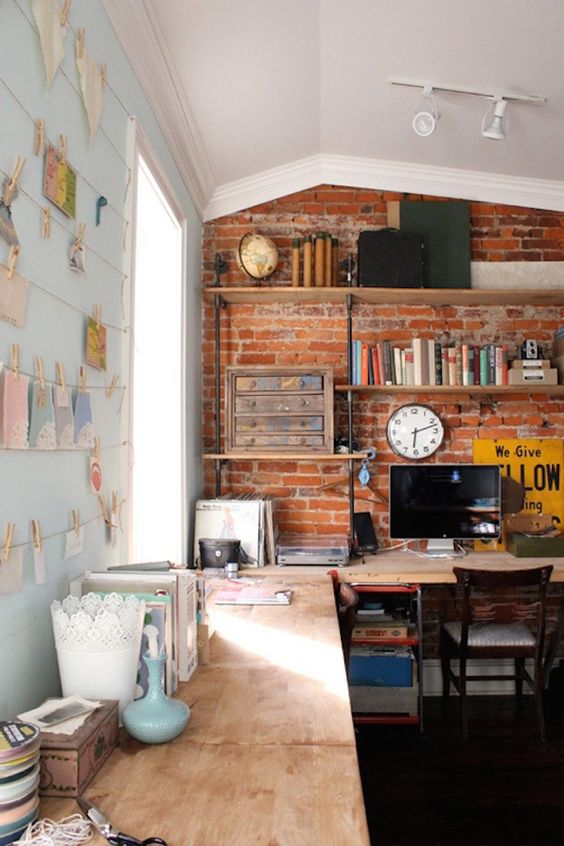 Rustic Modern Office Inspiration + Tips on @Remodelaholic