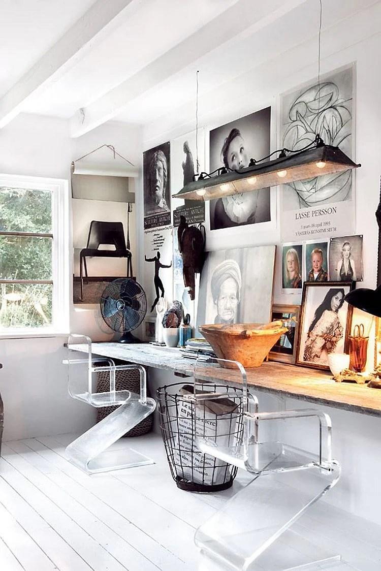 rustic modern office. Rustic Modern Office Inspiration + Tips On @Remodelaholic   Image Source: Decoist.com U