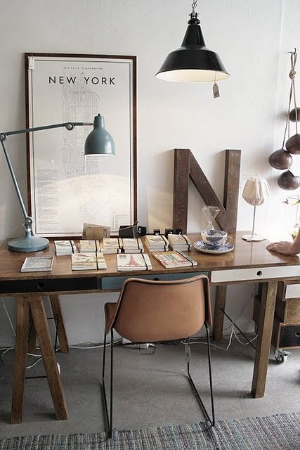 Rustic Modern Office Inspiration + Tips on @Remodelaholic | Image Source: roomofkarma.se