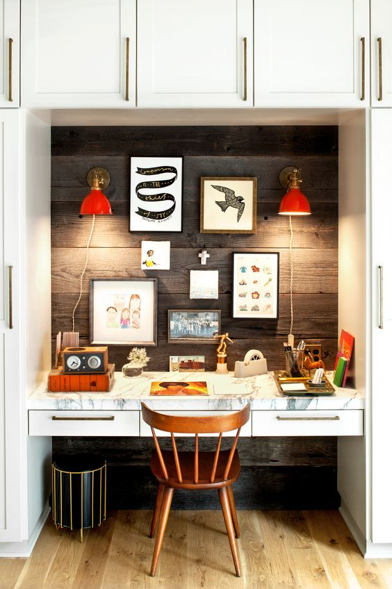 modern rustic office. Rustic Modern Office Inspiration + Tips On @Remodelaholic | Image Source: The New York I