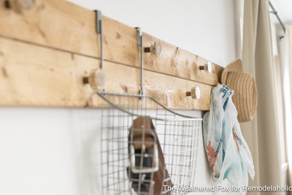 The Weathered Fox Farmhouse Wall Rack Rustic wall organizer for bedroom