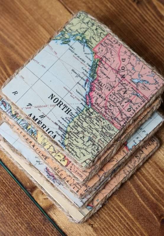 Vintage Map Coasters