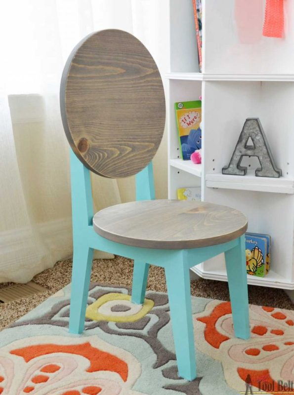 circle back kids chair built from ONE board, Hertoolbelt