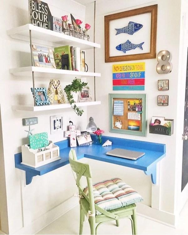 corner desk and home office, @gracecottagehhi